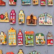 Model houses magnets on display in Gdansk, Poland - Stock Photo