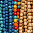 Wooden colored beads — Stock Photo