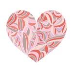 Постер, плакат: Ornamental heart in pastel shades