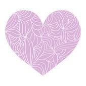 Ornamental heart on white background — Stock Vector