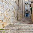Ancient street in Girona — Stock Photo