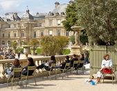パリ リュクサンブール公園で — ストック写真