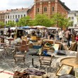 Flea market at Place du Jeu de Balle (Vossenplein) in Brussels — Stock Photo