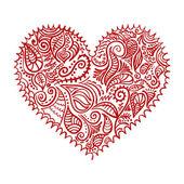 Heart ornament — Stock Vector