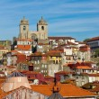 View of Porto cathedral and rooftops — Stock Photo
