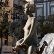 One of the sculptures of the Turia Fountain in Valencia — ストック写真