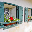 Stock Photo: Windows of country house