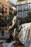 One of the sculptures of the Turia Fountain in Valencia — Stock Photo