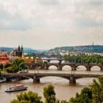 View of bridges in Prague — Stock Photo