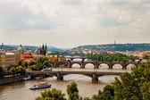 Pohled z mostů v praze — Stock fotografie