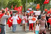 Pro Erdogan demonstration in Munich, Germany — Stock Photo
