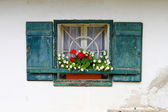 Windows of a country house — Stock Photo