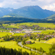 Stock Photo: Mountain meadows and villages