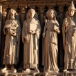 Sculptures of the Notre Dame de Paris — Stock Photo