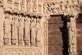 Notre Dame de Paris, Portal of the Last Judgement — Stock Photo