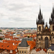 The Church of Mother of God in front of Tyn and the city of Prag — Stock Photo #34670447