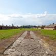 Blue sky over Auschwitz — Stock Photo