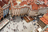 Top view of Old town square in Prague — Stock Photo