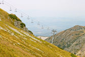 Ski chair lift in Tatra mountains — Stock Photo