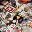 Everything for sale on a flea market — Stock Photo