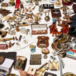 Flea market merchandise — Stock Photo