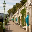 Promenade along the river in Vienna — Stock Photo
