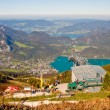 Cable car station and a view from a mountain — Stock Photo