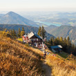 Restaurant on a mountain in austrian Alps — Stock Photo