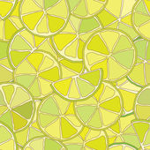 Fresh lime citrus seamless pattern — Stock Vector
