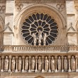 Facade of the Notre Dame de Paris Cathedral — Stock Photo #38049435