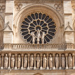 Facade of the Notre Dame de Paris Cathedral — Stock Photo