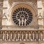 Facade of the Notre Dame de Paris Cathedral — Stock Photo