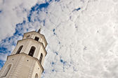 Cathedral's bell tower in Vilnius — Stock Photo