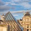 Louis XIV statue in front of Louvre — Stock Photo #38112867
