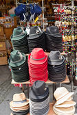 Austrian hats in a gift shop — Stock Photo