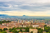 Sunset in Bergamo, Lombardy, Italy. — Foto Stock