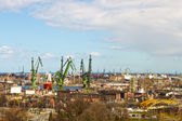 Shipyards in Gdansk, Poland — Stockfoto