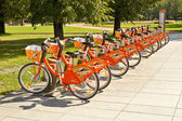 City bikes fro ren in Vilnius — Stock fotografie