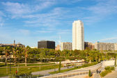 A park and residential area in Valencia — Stock Photo