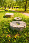 Ancient millstones — Stock Photo