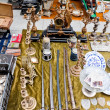 Vintage things for sale on a flea market. — Stock fotografie #49111993
