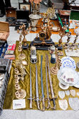 Vintage things for sale on a flea market. — Stock Photo