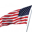 American flag isolated on white with clipping path — Stock Photo