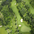 Aerial view of a golf course — Foto de Stock