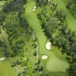 Aerial view of a golf course — Lizenzfreies Foto