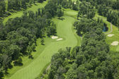 Aerial view of a golf course — Stock Photo