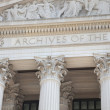 Facade of National Archives building in Washington DC — Stock Photo