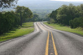 Curving road in the Texas Hill Country — Stock Photo