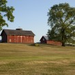 Old red barns in Ohio — Stock Photo