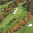 Aerial view of golf course in autumn — Zdjęcie stockowe #33143009
